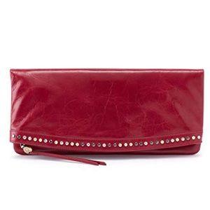 Hobo Zeal Studded Clutch Wallet in Ruby